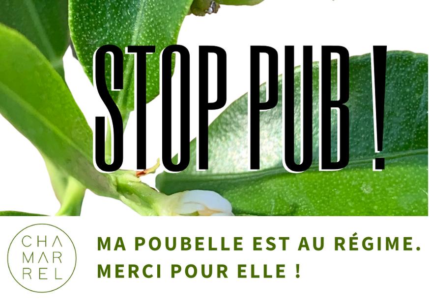 Stop Pub - Refusez la publicité non- sollicitée. Zéro déchet